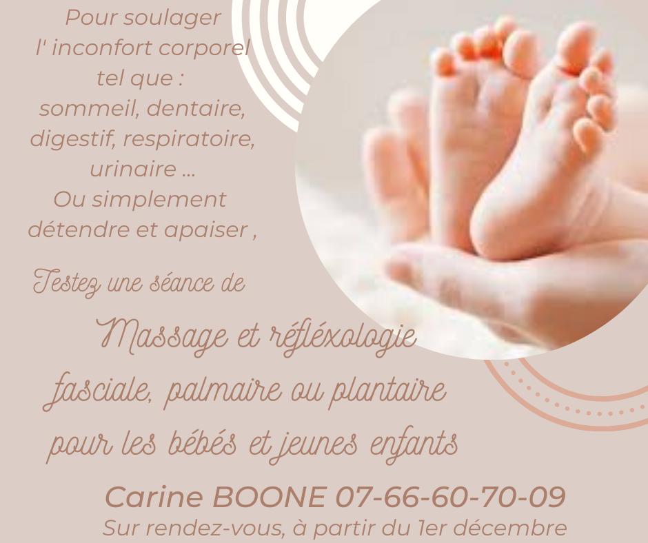 Nouveau dans votre maison médicale : Massage-Réflexologie pour bébés et jeunes enfants